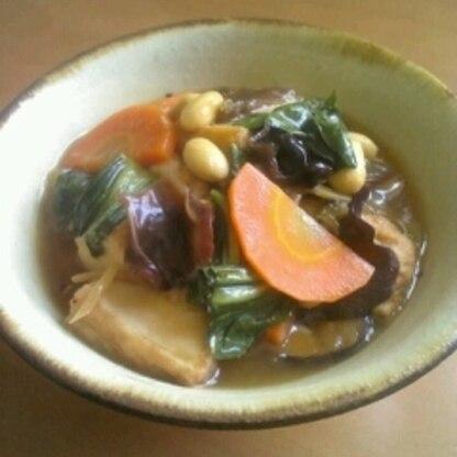 野菜たっぷり♪厚揚げの中華あんかけ煮