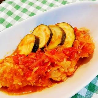 ザワークラウトで自然な甘み♪手羽元のトマト煮