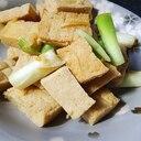 さばの味噌煮の煮汁で高野豆腐の煮物