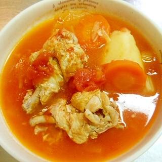 圧力鍋で手羽元と野菜のトマトスープ