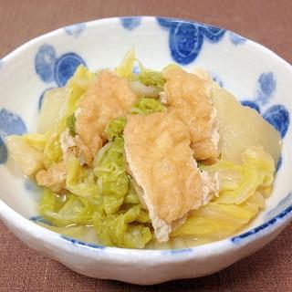 めんつゆで簡単☆白菜と油揚げの煮物