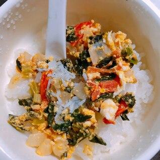 簡単♪〜離乳食後期の朝食〜野菜たっぷり卵丼♡