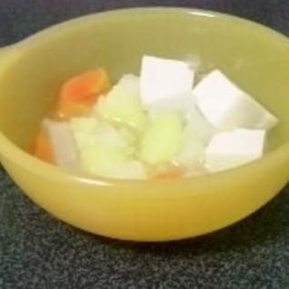 離乳食☆和風野菜と豆腐のだし煮