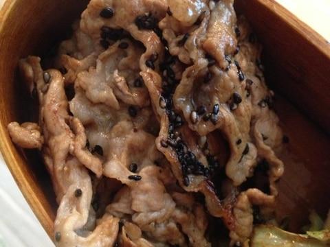お弁当に☆薄切り豚肉のソテー