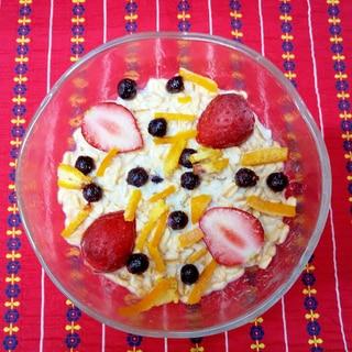 オートミールの朝食