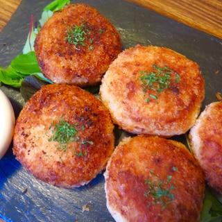 カルボ風リゾットのチーズライスコロッケ