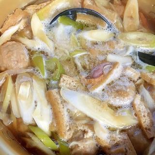 冷凍肉団子入り鴨汁