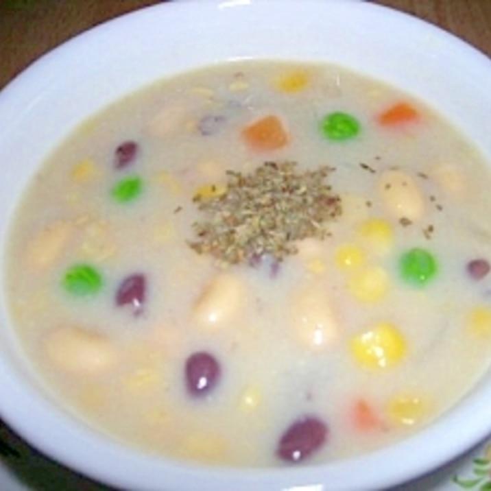 カラフルビーンズ★コーンスープ