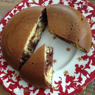 炊飯器でマーブルケーキ