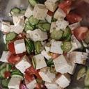 きゅうりとトマトとオクラの夏野菜サラダ