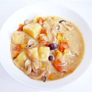 ベジタリアン豆乳シチュー