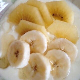 キウイとバナナのヨーグルト