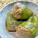 めんつゆで!豆腐でかさまし!肉詰めピーマンの甘辛煮