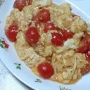 トマトと卵の甘酢かけ