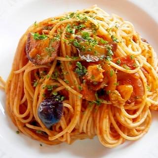 ケチャップで簡単☆なすとベーコンのスパゲッティ☆