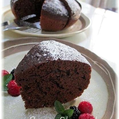 炊飯器でパパッと簡単!しっとりチョコレートケーキ♪