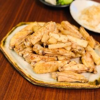 甘辛スパイシー名古屋風♫鶏手羽中と長芋の炒めもの