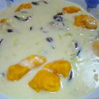 米粉とカボチャのニョッキのクリームソース