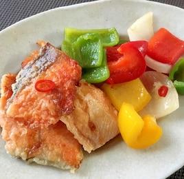 鮭とカラフル夏野菜の南蛮漬け