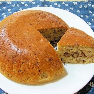 くるみとバナナの炊飯器ケーキ
