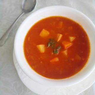 トマトジュースで作る♫具沢山ミネストローネ