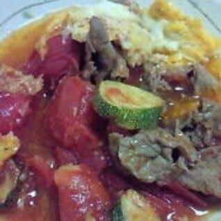 トマトと牛肉簡単炒め