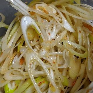 韓国料理☆サムギョプサルの付け合せ〜ネギ編〜