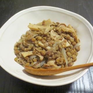 レンズ豆とたまねぎのコンソメ煮