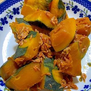 かぼちゃと桜エビの煮物