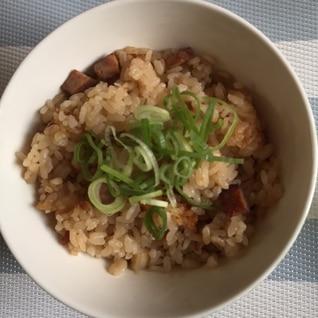焼豚のジューシー(沖縄風炊き込みご飯)