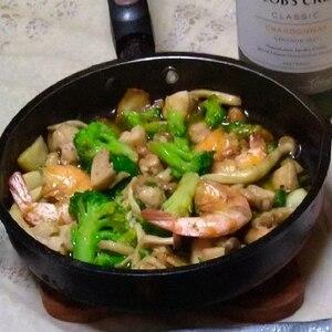 簡単!美味い!海老のアヒージョ