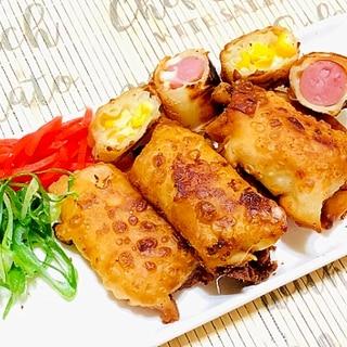 コーンとウインナーチーズの揚げ餃子