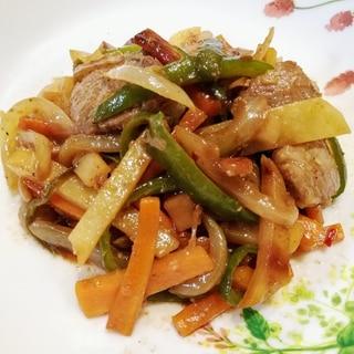 豚肉と細切り野菜の炒め物