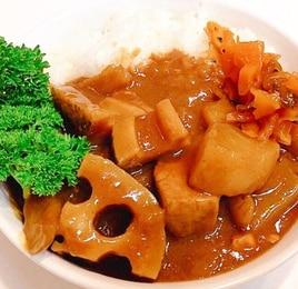 レンコンごろりん☆根菜たっぷりカレーライス
