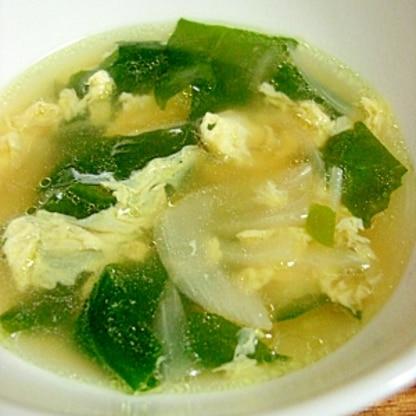 副菜に最適◎あっさり卵わかめスープ