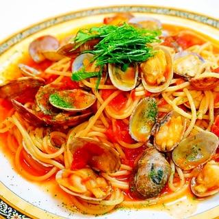 トマトの酸味・アサリの旨味!ボンゴレ ロッソ