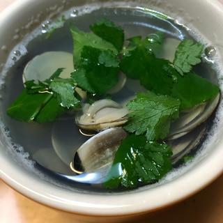 ねこぶだしでハマグリの潮汁