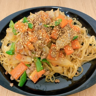 簡単☆夕飯やおかずに最適!ピリ辛チャプチェ