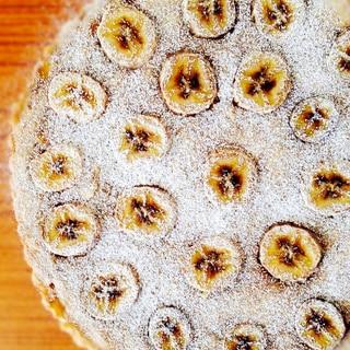 そば粉入りでモチモチ♪バナナケーキ