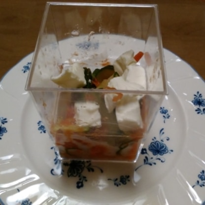今の季節にピッタリの 一品ができ、美味しくいただきました。 暑いので冷蔵庫でキンキンに冷やして食べました