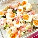 マヨネーズで風味アップ!カリフラワーと卵のグラタン