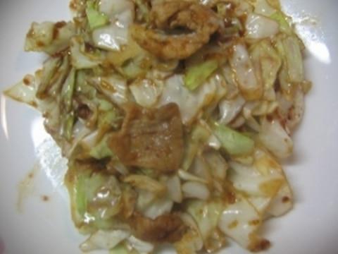 豚肉キャベツピリ味噌炒め