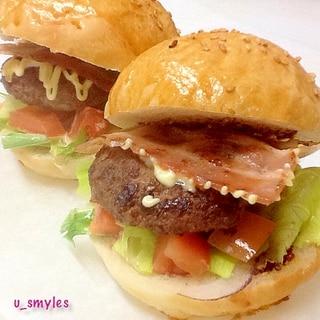 おうちで手作りハンバーガー