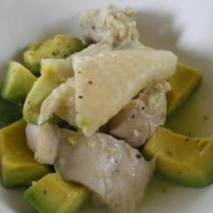 アボカドと鶏肉の炒め