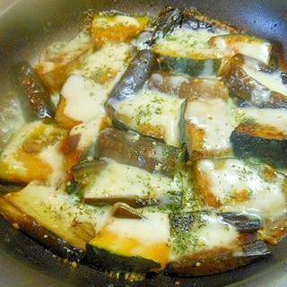 スキレットで☆長茄子とかぼちゃのチーズマヨ焼き★