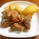 圧力鍋で作る 豚もも肉のケチャップ煮