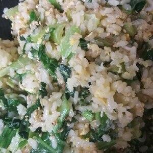 幼児食☆小松菜としらすのチャーハン!