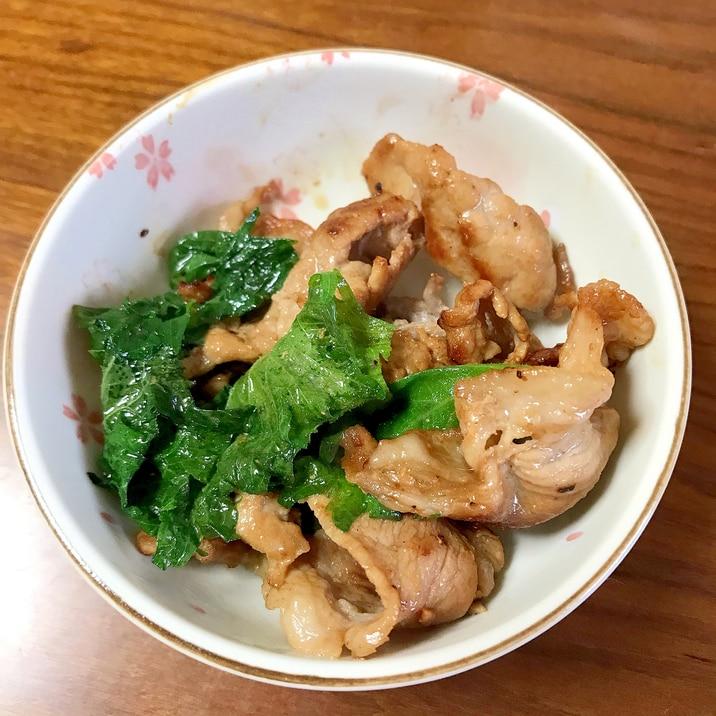 豚肉と大葉のめんつゆ炒め