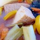 ズッキーニと厚揚げの煮物