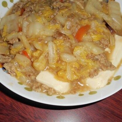 冷蔵庫に残っていた椎茸もプラスして^^ お野菜が美味しい~とろ~りあったかレシピ美味しかったです!! またリピしたいと思います♪